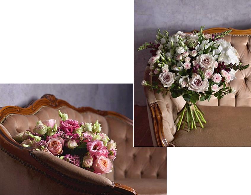 Kytice Luxury bouquet, Holandské květiny, orientační cena 2065 Kč; Kytice Pink lady, Holandské květiny, orientační cena 960 Kč